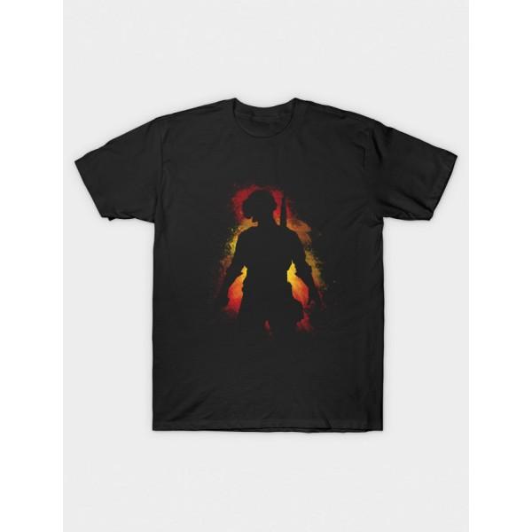 Black PUB-G Printed Cotton T shirt For Him