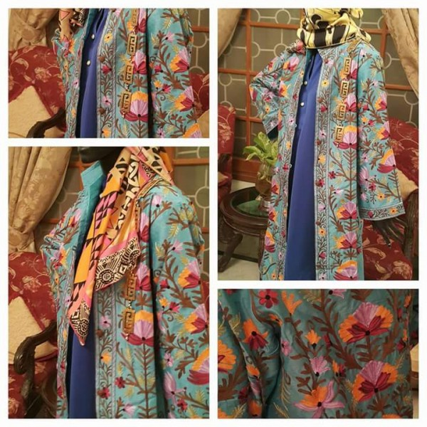 Beautiful Hand Embroidered Khasmiri Coats For Her A8