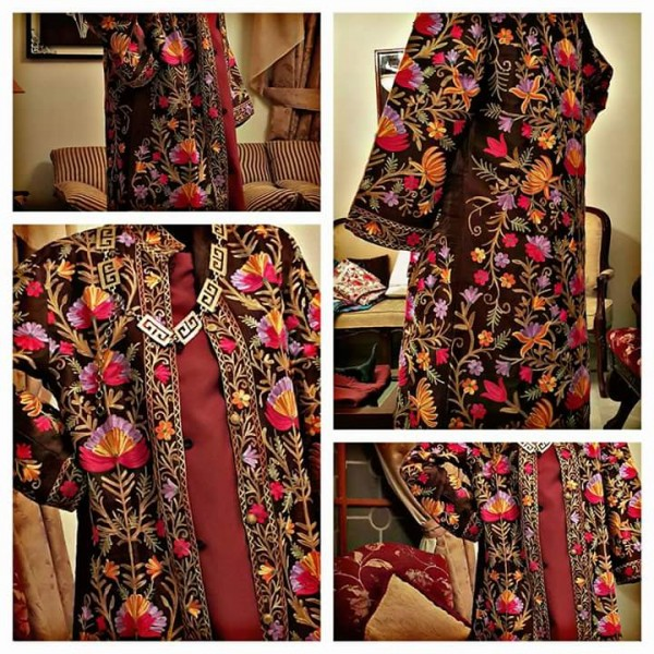 Irum Fawwad Classics - Embroidered Khasmiri Coats For Her A9
