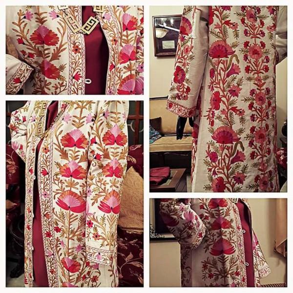 Irum Fawwad Collection - Hand Embroidered Khasmiri Coats A10