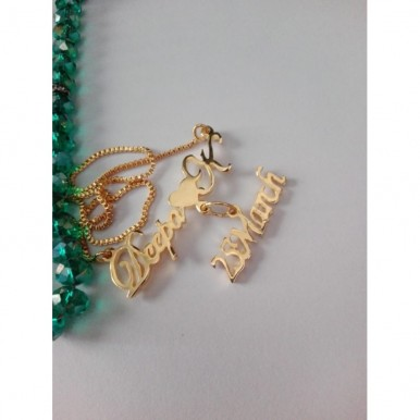 Customized Name Necklace with small name hanging