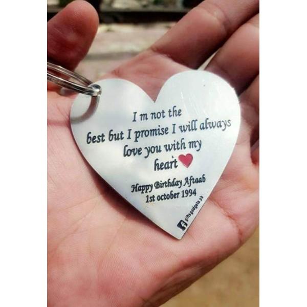 Customized Heart Shaped Metal Keychain