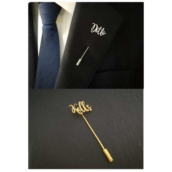 Name Lapel Pin-Customized
