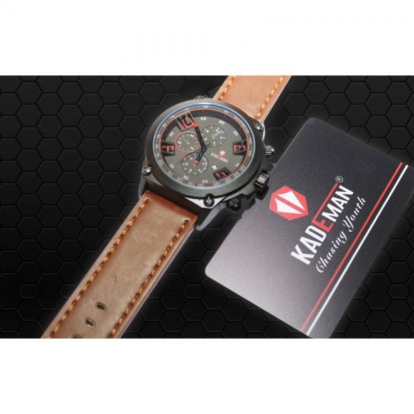 Kademan Watch for Him in Black and Brown Combination