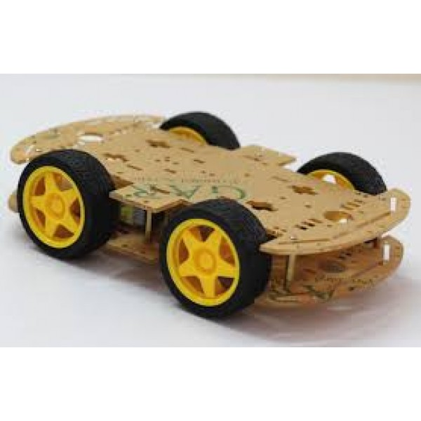 4-Wheel Drive Acrylic Robot Chassis Kit