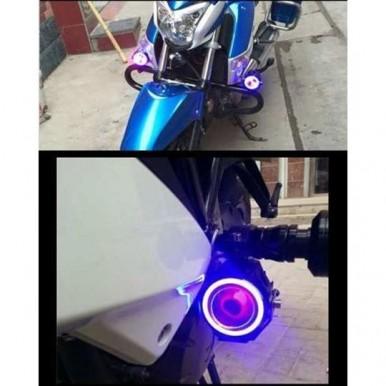 2PCS Super Light LED Motorcycle Headlight Bike Spotlight