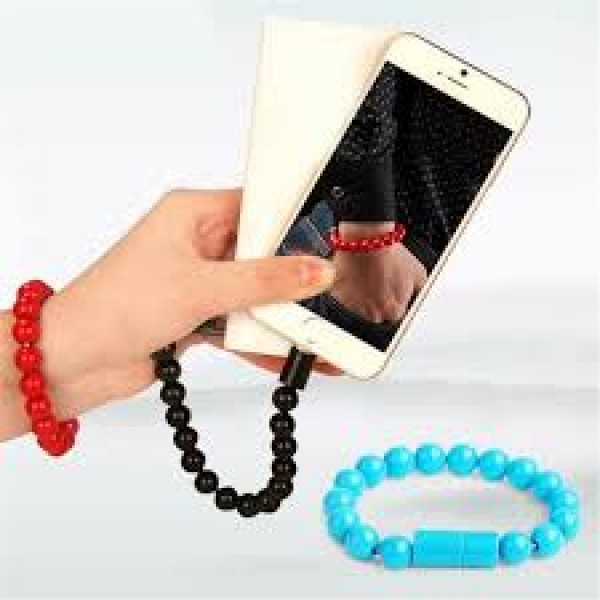 USB Bracelet Charging Cable beads Wearable Data Cable Wristband