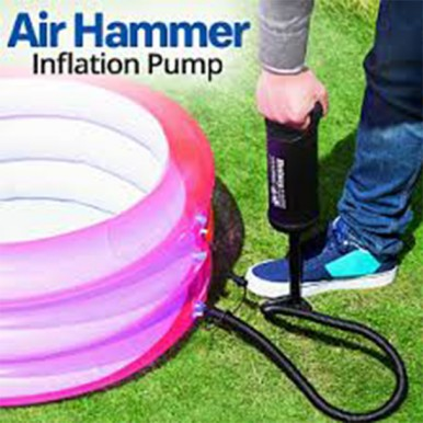 Air Hammer Inflation pump Hand Inflation Pump for Pool Air Bed and more Black