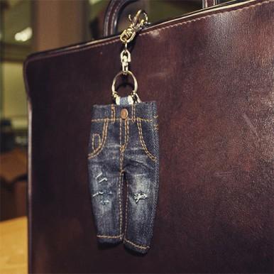 Denim Jeans Keychain