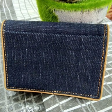 Retro Unisex Blue Denim Wallet both Male and Female