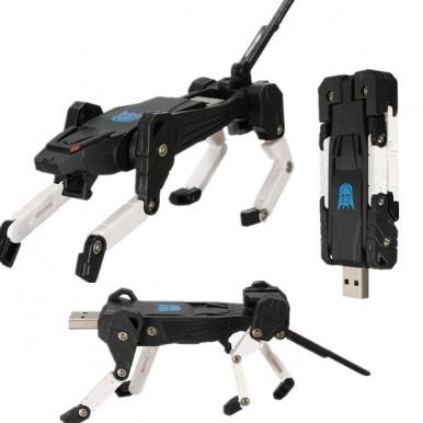 USB 2.0 Guaranteed Full Capacity Creative Machine Dog USB Flash Drive Pendrive High Speed 4GB Pen Drive Flash Memory Real Capacity Drive Robot Dog Computer Gifts Transformers Fashion Exquisite USB 2.0