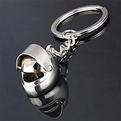 Metal Motorcycle Helmet Keychain