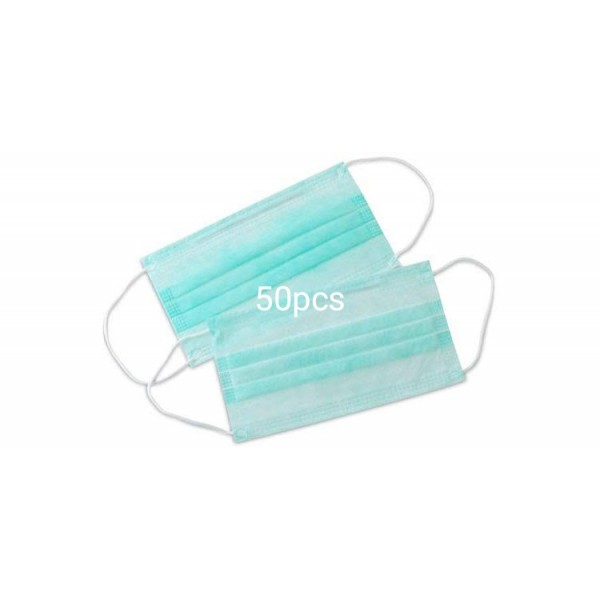 Surgical Disposable Elastic Cotton Face Mask 50 Pieces