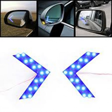 2Pcs14SMD LED Arrow Panel For Car Rear View Mirror Indicator Turn Signal Light Random Color Car Styling 14 SMD Indicator Turn Signal Light Car led Parking LED Arrow Panel For Car Rear View Mirror Indicator Turn Signal Light Car led Park