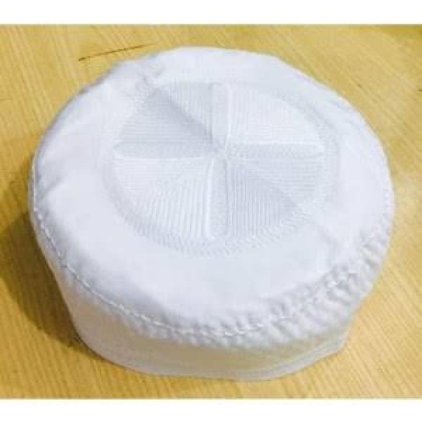 Namaz Cap For Men White Topi Cap