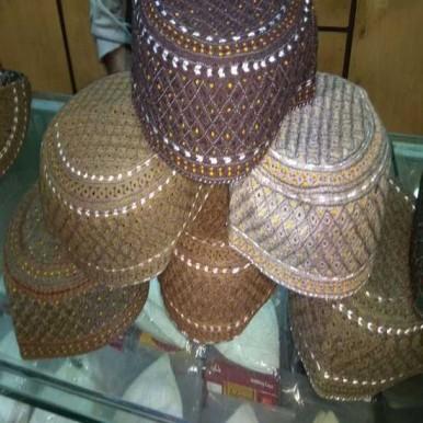 Sindhi Somro Topi Cap Handmade Random Color Medium Size