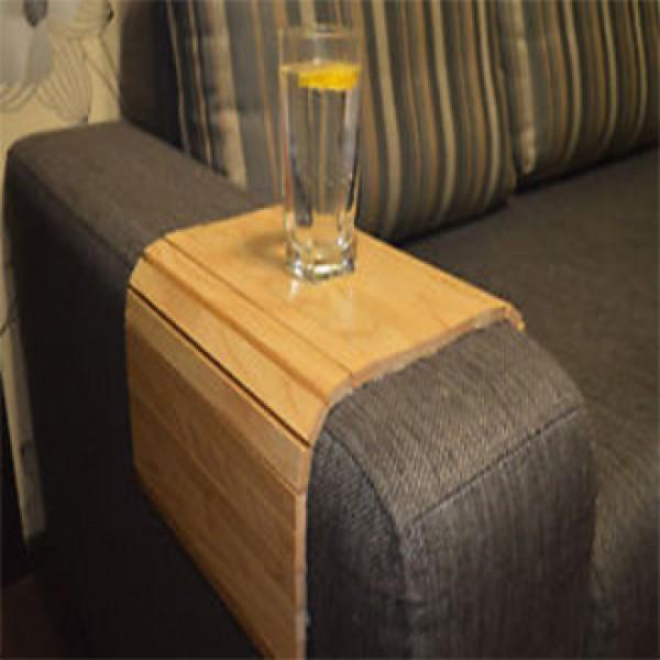 Folding Sofa Arm Table Sofa Tray Table (Oak Tree) Sofa accessories Arm Tray