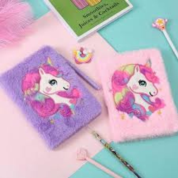 Unicorn Soft Plush Diary Best Gift for Kids