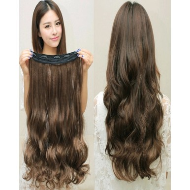 27 Inches Curly Hair Extension - Natural Brown