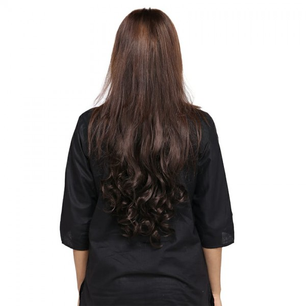 27 Inches Curly Hair Extension - Light Brown