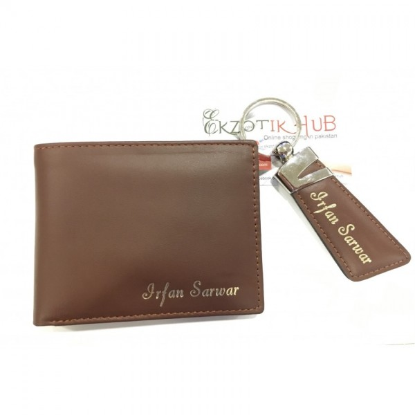Customize Leather Wallet with Keychain