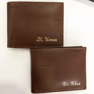 Customize Brown Leather Wallet For Men With Your Name