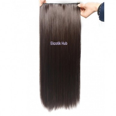 32 Inches Straight Hair Extension - Natural Brown