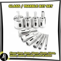Glass Marble Drill Bit Set - 10 Pcs. (6mm - 25mm)