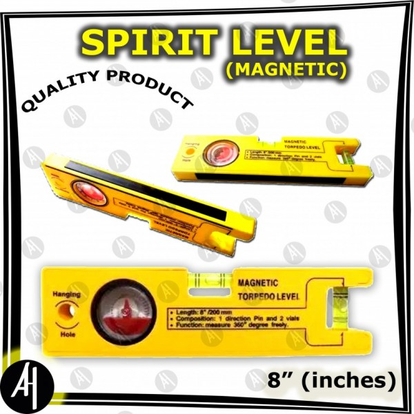 Spirit Level - Magnetic - 8 inches