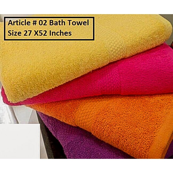 PACK OF TWO HIGH QUALITY BATH TOWEL