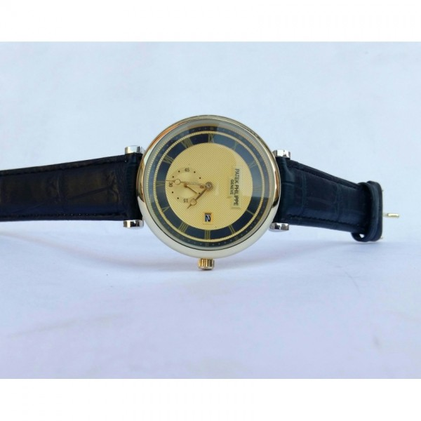 patek philp leather Style strap watch for men