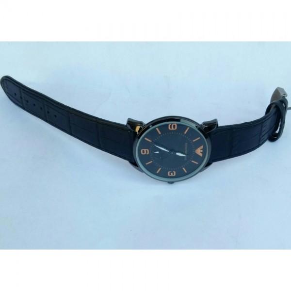 Black Strap watch for men