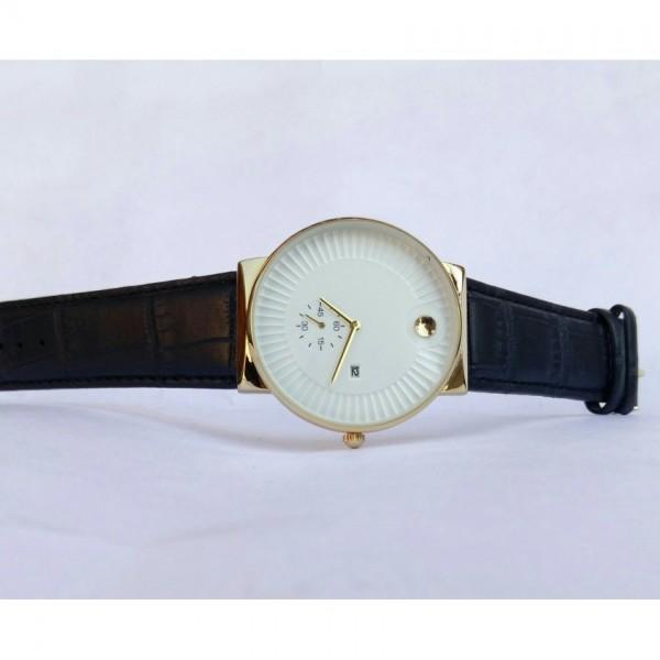 movado leather Style strap men fashion watch