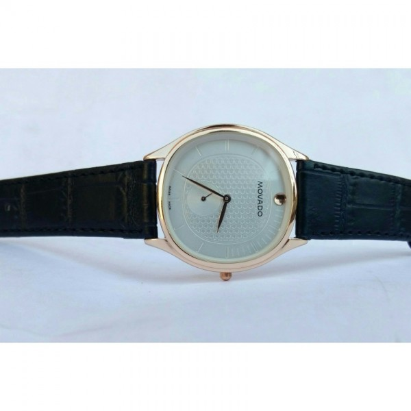 mens watch leather strap decent look