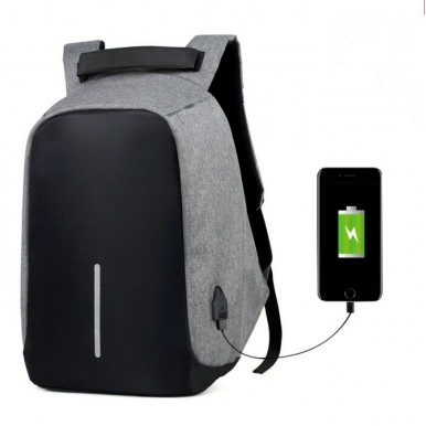 Anti Theft Travel Backpack - Grey