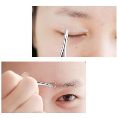 Eyebrow Tweezers, Slant Tip Tweezers, Hair Plucker for Hair and Eyebrows Personal Care For Women - Silver