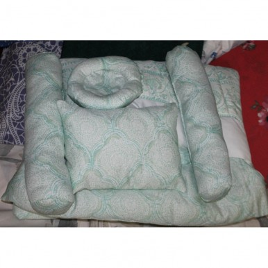 New Born Baby Quilted Bedset - Unisex