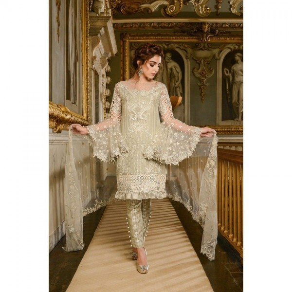 Beautiful Sequence Embroidered Chiffon Dress for Her