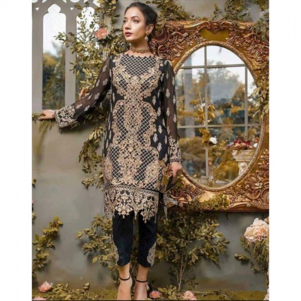 Heavy embroidered dress (dopatta and trouser embroidered)