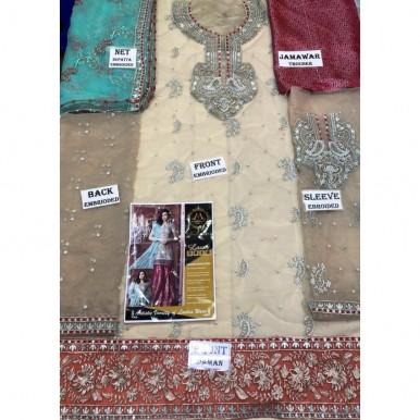 Chiffon embroidered Eid Dress with Jamawar Trouser