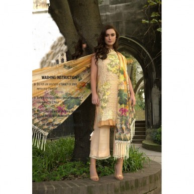 net digital silk embroidered dress - available in 2 colours
