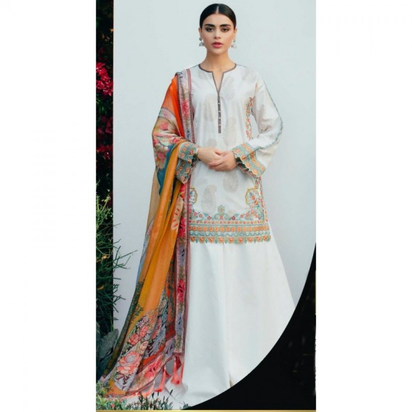 shahjhan White lawn collection 2018 - eid special