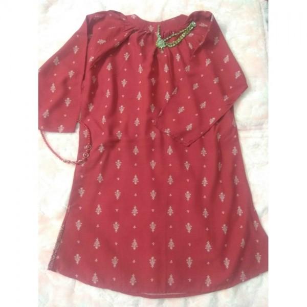 Blush Red Ladies Kurti