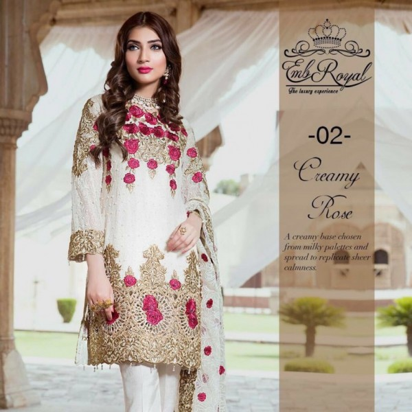 Royal Floral Embroidered Dress for her
