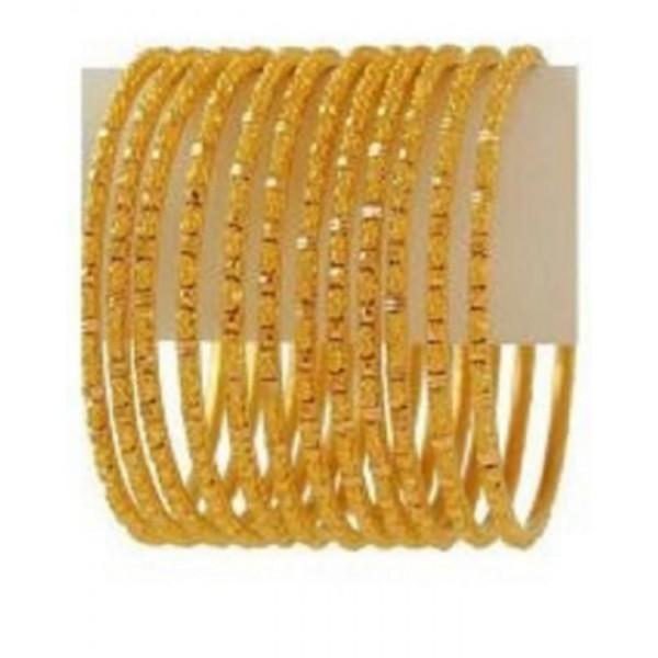 Set of 12 - 18K Gold Plated Bangles