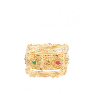 Golden Gold Plated Handmade Bangles Set For Women