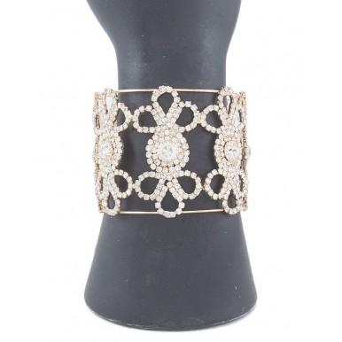 Golden Gold Plated White American Zircon Bracelet