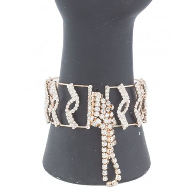Rose Golden Gold Plated American Zircons Bracelet For Her