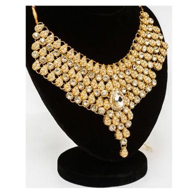Gold Plated Bridal Set - Golden