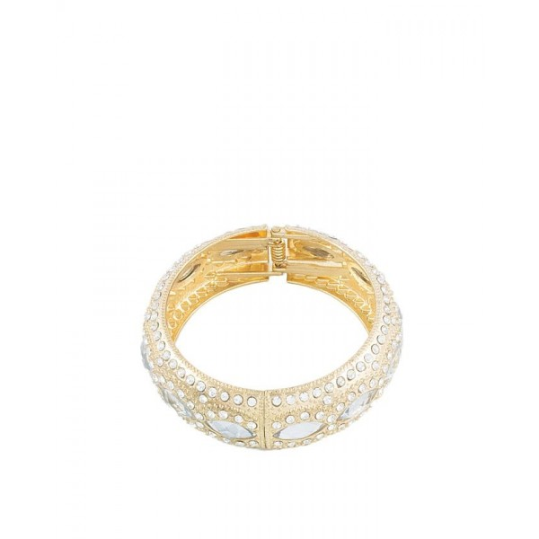 Rose Golden Gold Plated Zirconia Traditional Bangle For Her